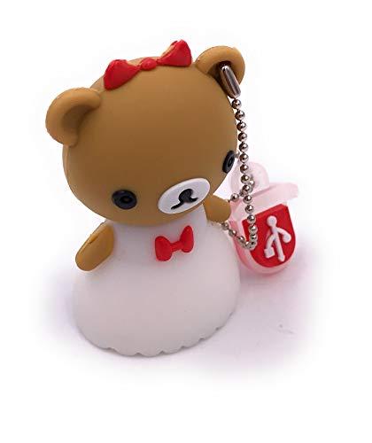H-Customs Teddy Braut Hochzeit Geschenk USB Stick 8GB USB 2.0