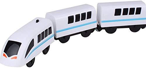 Tren eléctrico de Juguete, Locomotora eléctrica ferroviaria Tren ferroviario de Madera, Tren eléctrico magnético Juguete magnético para niños Niños Niñas Regalos (Type A)