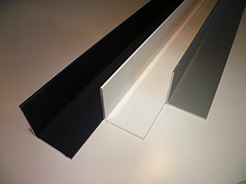B&T Metall Aluminium Winkel pulverbeschichtet 50 x 50 x 2 mm | Winkelschiene anthrazit RAL 7016 200 cm lang