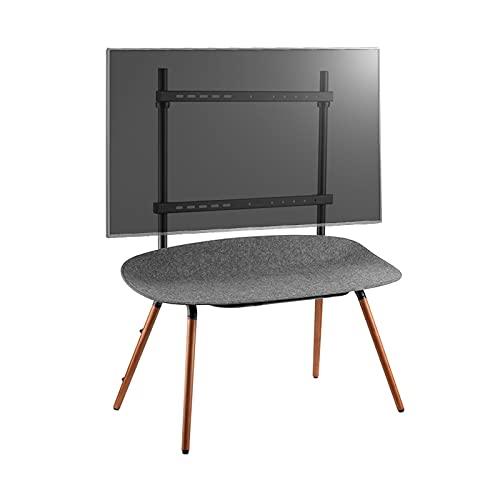 Soporte de TV 55 '-70' Suelo de TV de pie soporte de soporte de madera soporte de TV Móvil con mesa de almacenamiento de fieltro de haya TV TV TV HOLD HOLD HASTA DE 88 LBS Soporte de Televisión