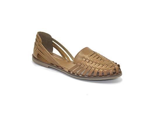find. Sandalias de Cuero Trenzado Mujer, Marrón (Cuoio), 39 EU