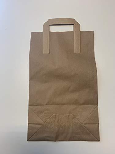 GUDE - Bolsas de papel (250 unidades, 260 x 100 x 360 mm), color marrón