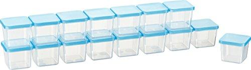 Kigima Mini-Tiefkühldose 0,03l rechteckig 3,5x3,5x3,3 cm 16er Set