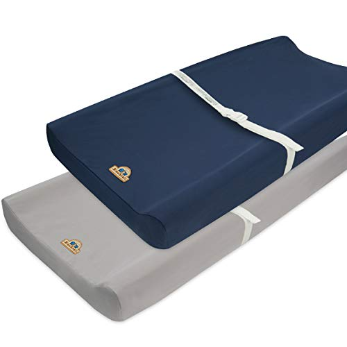 Ultra Soft and Comfortable Changing Pad Cover 2pk by BlueSnail NavyKhaki