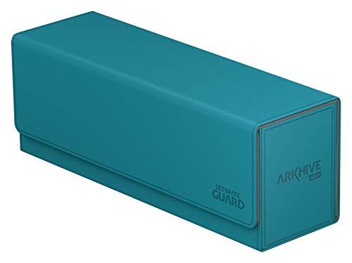 Ultimate Guard UGD010766 Arkhive Flip Funda 400 Plus XenoSkin Azul Petróleo Tamaño Estándar