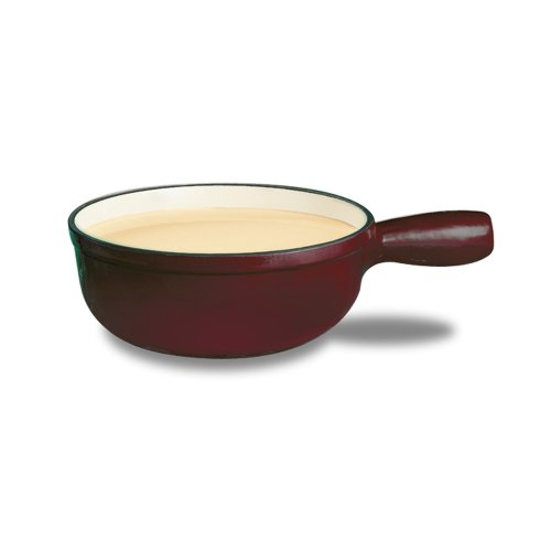 Swissmar Lugano 2-1/2-Quart Cheese Fondue Pot, Cherry Red