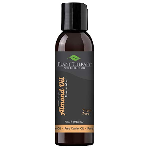 Plant Therapy Sweet Almond Oil - For Skin, Hair, Body, Face & Baby - Natural Moisturizer, Massage & Aromatherapy Carrier Oil 100% Pure, Cold Pressed California Almonds, Made In USA, 4 oz