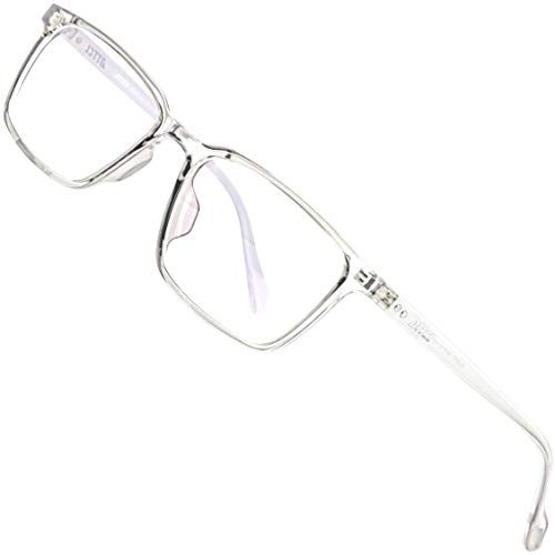 ATTCL Unisex blaulichtfilter brille zum Blockieren von UV-Kopfschmerz ohne sehstärke Computerbrille BL5577 Transparent White