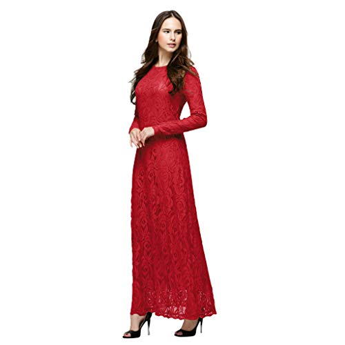 FRAUIT dames 100% kant lange jurk vintage cocktailjurk mousselin maxi jurken wisjurken beroemde jurk moslimische losse robe kleding vrouwen Abaya islamitische Arabische koffie