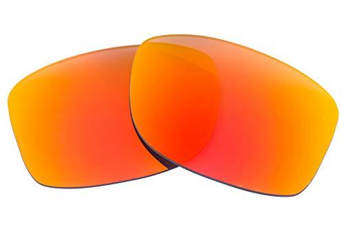 LenzFlip Lentes Compatibles Con Oakley Jupiter Carbon para hombre Regular Gris polarizado con Espejo Rojo
