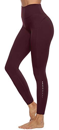 JOYSPELS Sporthose Damen, Leggings Damen Lange Running Hosen, Cassis 46-48 XL