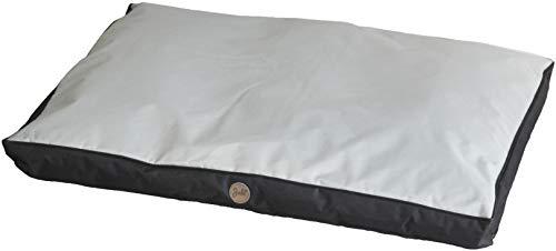 Jalo Oxford Hundematratze Hundebett für große Hunde, grau/schwarz 100x70 cm, waschbar