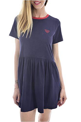 Tommy Jeans Tjw Contrast Binding tee Dress Vestido, Azul (Twilight Navy C87), 32 (Talla del Fabricante: XX-Small) para Mujer