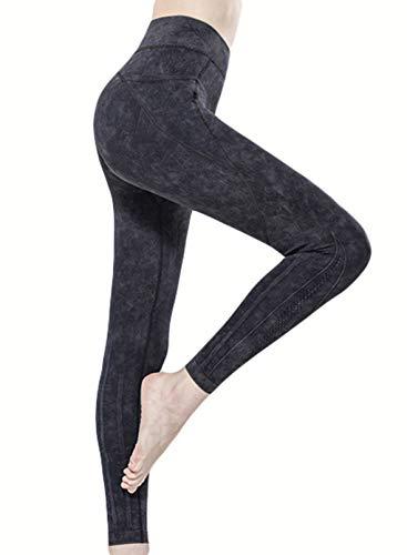 CORAFRITZ Leggings para mujer, pantalones deportivos de moda, cintura alta, bolsillos laterales, pierna delgada, pantalones de yoga