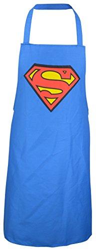 Superman Grill Logo-0122046 Schürze, Stoff, blau, 23.8 x 17.1 x 1.6 cm