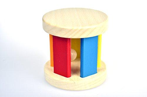 Tooky Toy - Rueda de Madera con Colores y Sonido a Partir de 6 Meses