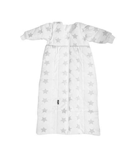 Odenwälder Babyschlafsack Prima Klima Thinsulate I leichter Kinder-Schlafsack I Winter-Schlafsack Jungen Mädchen I 100% Baumwolle & längenverstellbar, Größe:70-90, Design:Sterne grau