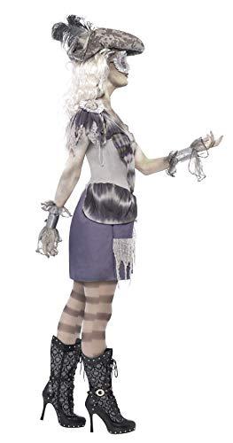 SMIFFYS Smiffy's 28407M - La Signora Voyage Costume con Cappello di Vestito & Benda, Grigio, M