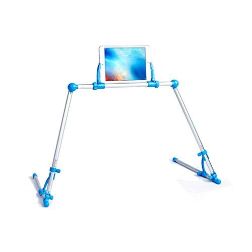 JLWM Mobiele Telefoon Stand Lazy, Universele Mobiele Telefoon Mount Student Net Klasse Mobiele Telefoon Houder Smartphone Tablet Flexibele Verstelbare Opvouwbare Bed Tafelvloer, Blauw