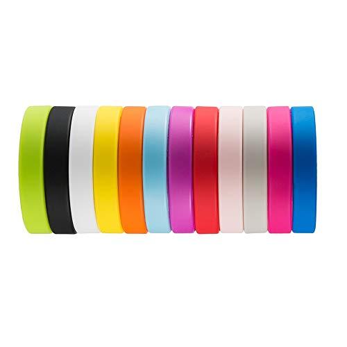 WXH Wholesale 12 PCS Mischfarben-Silikon-Manschetten, Gummiarmbänder, Erfolg, erzielen, Fokus, Glauben-Hoffnungs-Liebes-Energie-Anmut-Stärke, Erwachsene Unisexgröße
