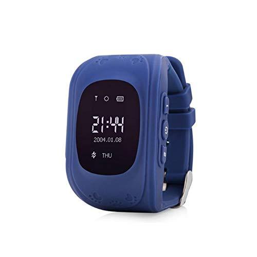 Kinder Smart Watch | Smartwatch| Armbanduhr | GPS, Handy, Sprachnachrichten, Standortlokalisierung per App, Ortung, Tracker | Kein Handy notwendig - verwendbar mit Micro SIM Karte (Dark Blue)