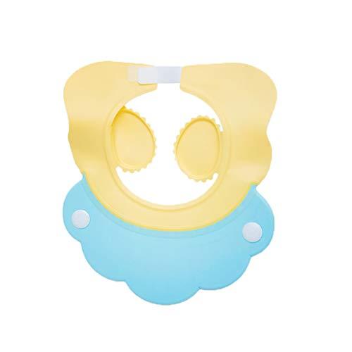 Bébé Shampooing Cap Étanche Protecteur Oreille Enfants Baignoire Bébé Infantile Bonnet De Douche Enfant Réglable (Couleur : Le Jaune)
