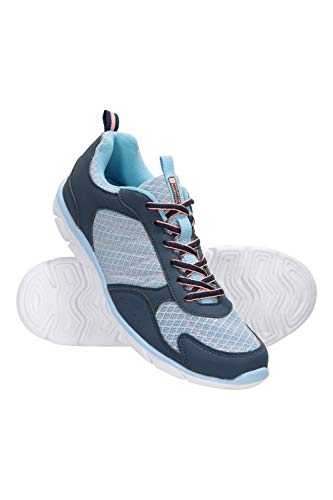 Mountain Warehouse Cruise Laufschuhe für Damen - Strapazierfähige Schuhe, atmungsaktiv, Netzstoff, Wanderschuhe, Laufsohle aus Gummi, Netzfutter - Für Wandern, Reisen Blau 38 EU