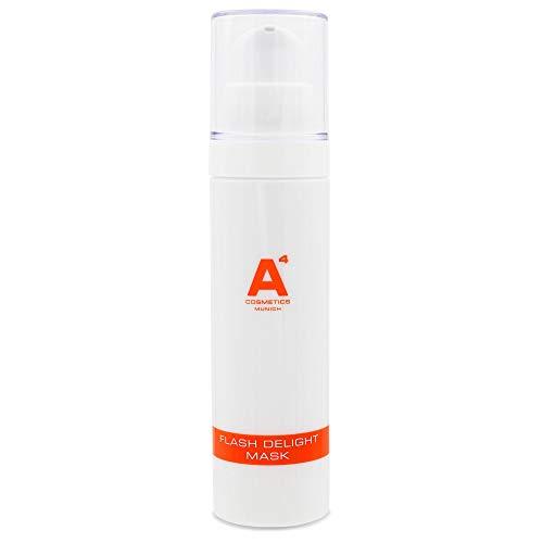 A4 - FLASH DELIGHT MASK | tiefen Feuchtigkeitsmaske | Hautcreme mit Arganöl, Aloe Vera, Avocadoöl | Anti-Aging Gesichtsmaske (50ml)