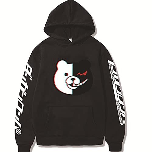 2021 NUEVOS Hombres y mujeres DangAnronpa Hoodie -3D Impresión DangAnronpa Cosplay Sweater Sweater de manga larga Sudadera con capucha Hombre y tapa de las mujeres (Color : 1q, Size : XL)