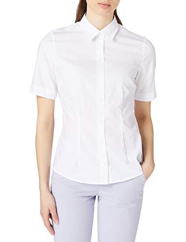 Seidensticker Damen Fashion Kurzarm Bluse, Weiß, 48