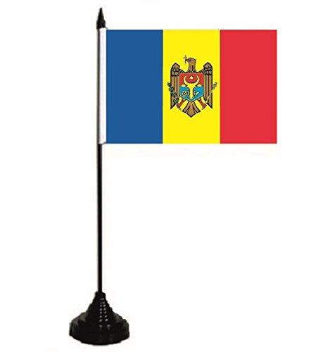 U24 Tischflagge Moldawien Flagge Fahne Tischfahne 10 x 15 cm