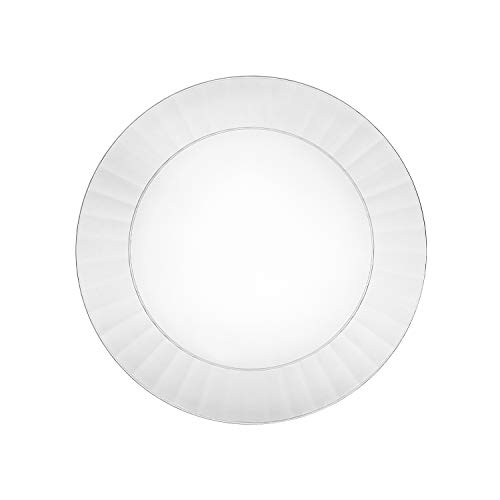 Party Essentials Deluxe Quality Hard Plastic 70 Count Round Party/Dessert Plates, 6-Inch, Clear