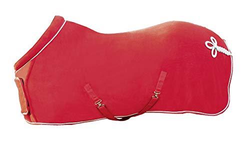 HKM Fleecedecke mit Kragen, rot, 145