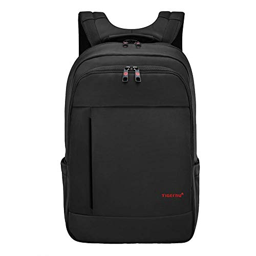 TIGERNU unico impermeabile resistente anti-furto Zip'Laptop zaino scuola Business borse (nero)