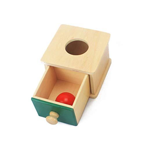 Toddmomy 1Pc Scatola di Permanenza Delloggetto Montessori Giocattoli di Coordinazione Occhio-Mano in Legno Apprendimento Prescolare Giocattoli Montessori Bambini Piccoli (Stile Scatole di