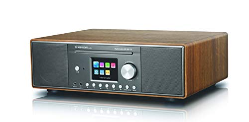 Albrecht DR 890 CD, 27389.02, Kompaktanlage - Internetradio, Digitalradio, WLAN, DAB+, UKW mit RDS, Bluetooth, AUX, CD Player, USB, Farbdisplay, 2 x 15 W RMS, Farbe: Walnuss