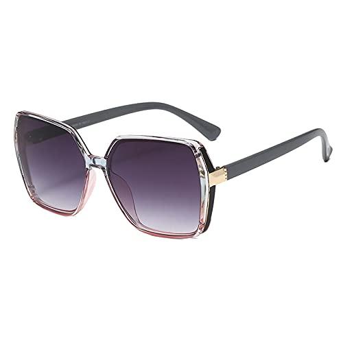 Gafas de Sol Gafas De Sol Vintage para Mujer, Gafas De Sol para Mujer, Montura De Plástico, Lente Transparente, Gafas Uv400, Sombra De Moda, Greypinkgrey
