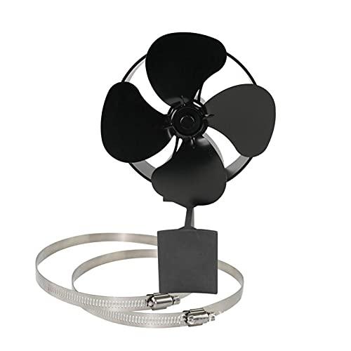 Estufa de calor de la estufa de la chimenea del ventilador de la chimenea de la chimenea de la chimenea de madera del quemador de madera de la chimenea Accesorios para el hogar ( Color : Black )