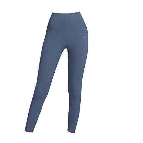 N\P Damen Yogahose Herbst und Winter Sport Hohe Taille Po Nude Fitness Hosen Schnell Trocknend Yoga Kleidung Gr. Large, blau
