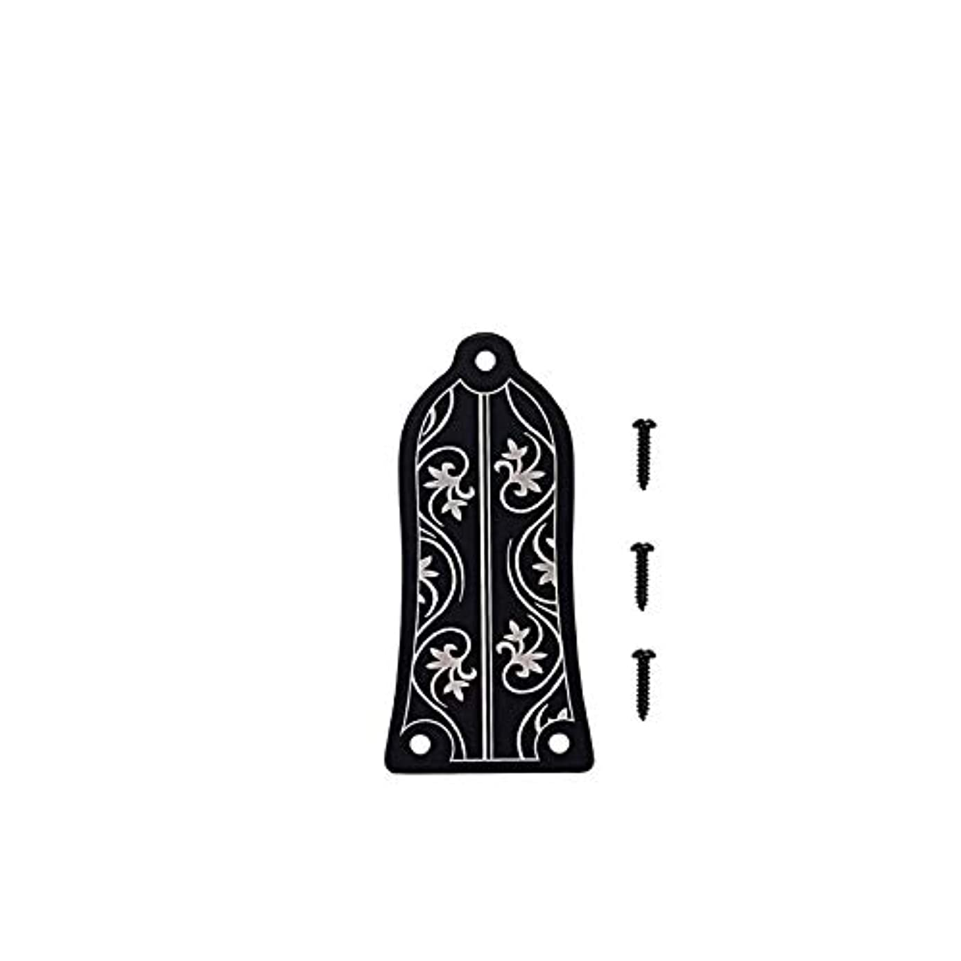 Susie-Smile - Guitar Truss Rod Cover Bell Shape 3 Screw Alloy For GB LP Black