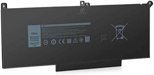 7.6V 60Wh F3YGT Laptop Batería para DELL Latitude E7280 E7480 12 7000 7280 7290/13 7000 7380 7390 P29S002/14 7000 7480 7490 P73G002 Series 2X39G DM3WC 0DM3WC 451-BBYE 453-BBCF