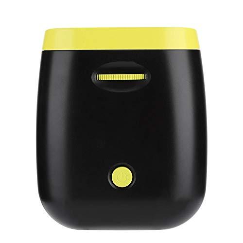 Mini Portable Home LED 1080P projector met geïntegreerde luidspreker (zwart)., EU-stekker.