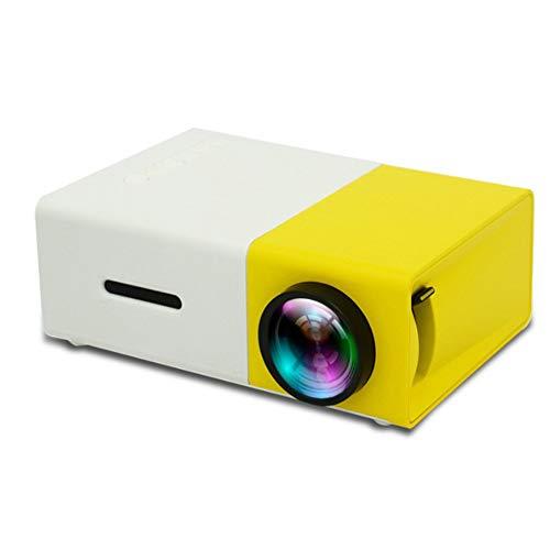 BESTSUGER Proyector de vídeo HD, proyectores de Diapositivas, 1080P portátil Mini proyector 400 lúmenes, Compatible con TV HDMI VGA USB AV portátil Smartphone