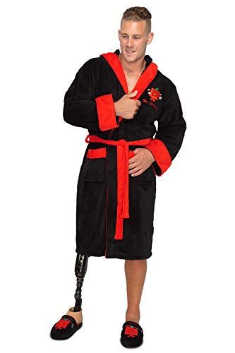 Groovy Strong Mr Fleece Heren Badjas, Zwart