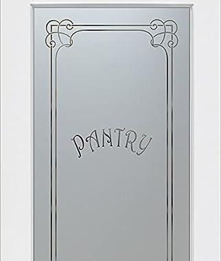 SANS Soucie - Pantry Door - Enna Harrington (Element) - 1D Negative Frosted - Traditional / Primed