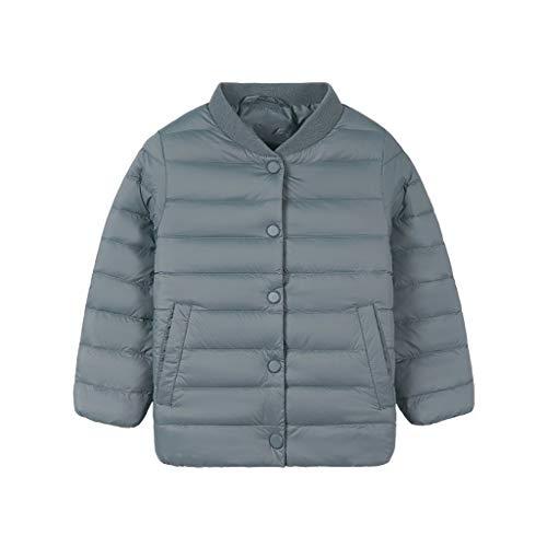 VIVIANE Mädchen Daunenjacke, Kinder Unten Jacke, Baseball-Trikot, Trägt Eine Leichte Daunenjacke for Männer Und Frauen (Color : Blue, Size : 110/56)