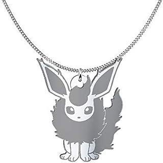 Collana Flareon Pokémon, Sterling Silver o placcato oro 18K, gioiello regalo amicizia, migliori amici
