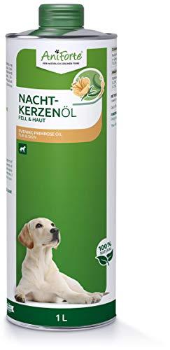 AniForte huile d'onagre naturelle pour chiens, chats, chevaux, petits animaux et oiseaux 1L - apport d'acides gras insaturés et saturés, oméga 3-6-9, renforcement du bien-être, produit naturel