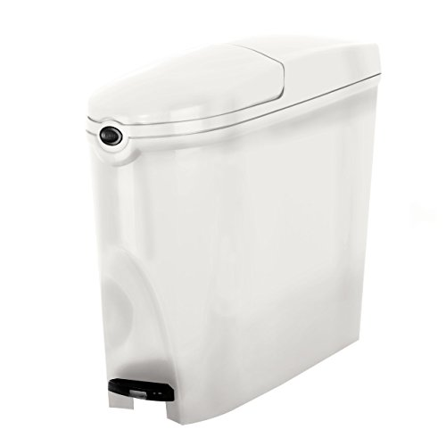 Professioneller Sanitärbehälter/Mülleimer - Fassungsvermögen: 20 Liter, Treteimer - Weiß