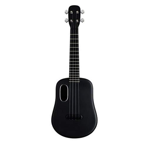 Ukulele Carbon-Faser-Ukulele 23 Zoll Anfänger Kinder Kleine Gitarre mit Ukelili Fall Musikinstrument ( Color : Black )